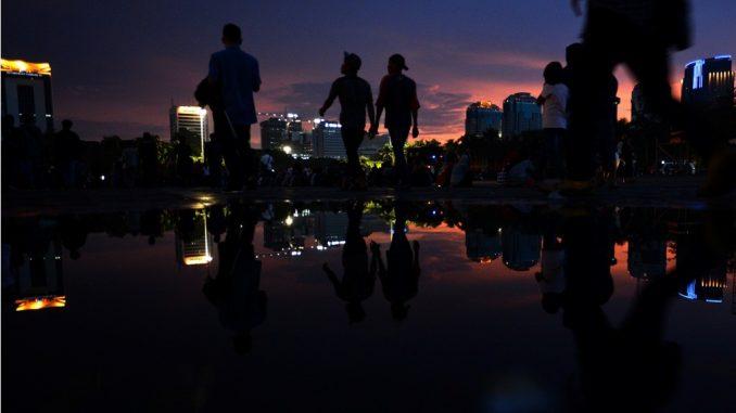 Temaramnya Kota Jakarta