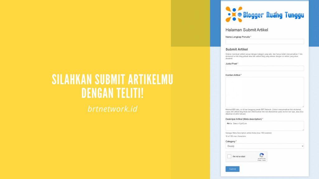 Submit artikel di BRT Network